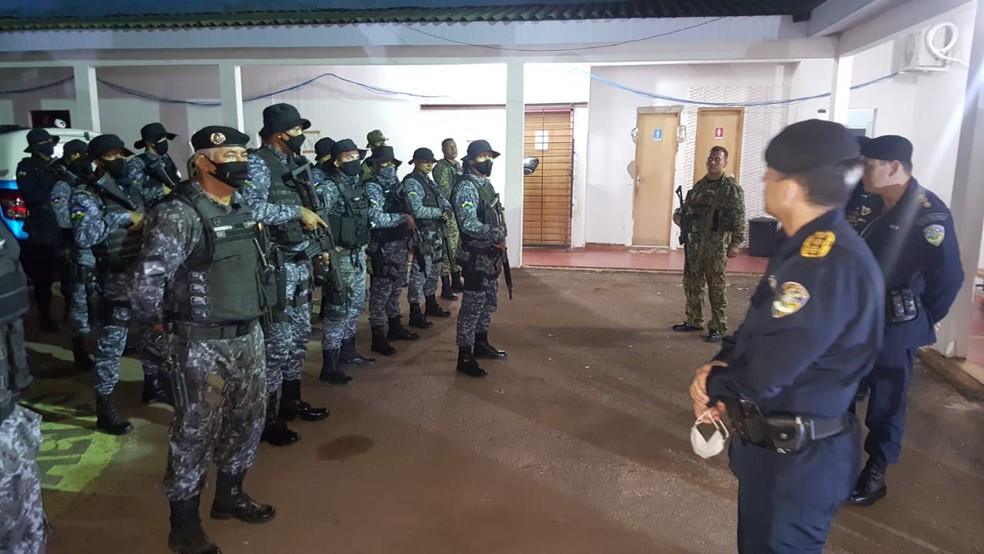 PM deflagra operação para resgatar policiais emboscados em fazenda de Rondônia — Foto: Polícia Militar/Divulgação