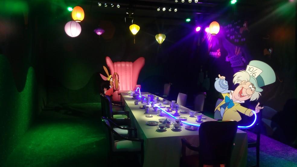 Mostra Experiência Alice no País das Maravilhas no Shopping Iguatemi. (Foto: Walt Disney Company/Divulgação)