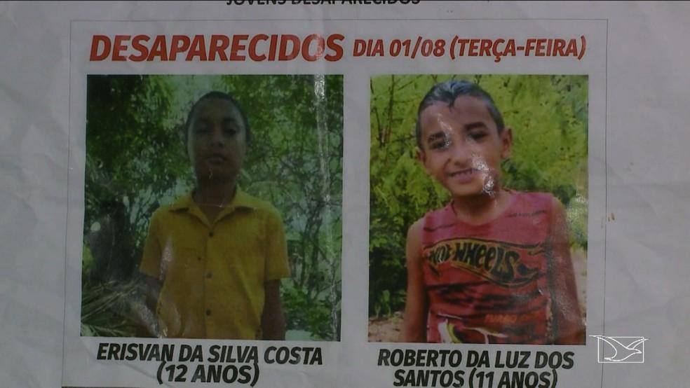 Criança e adolescente foram encontrados em cova rasa no Campo de Peris no Maranhão. — Foto: Reprodução/TV Mirante