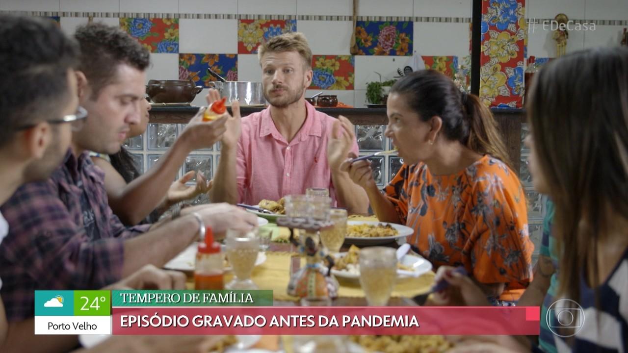 Rodrigo Hilbert prepara Baião de Dois e Sarapatel
