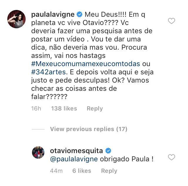 Famosas criticam Otávio Mesquita por comentário sobre caso João de Deus (Foto: Reprodução / Instagram)