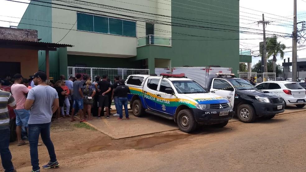 Duplo homicídio e suicídio aconteceram em um escritório de advogacia de Porto Velho nesta sexta-feira (10). — Foto: Diêgo Holanda/G1