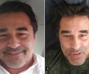 Luciano Szafir antes e depois de perder mais de seis quilos | Reprodução/Instagram