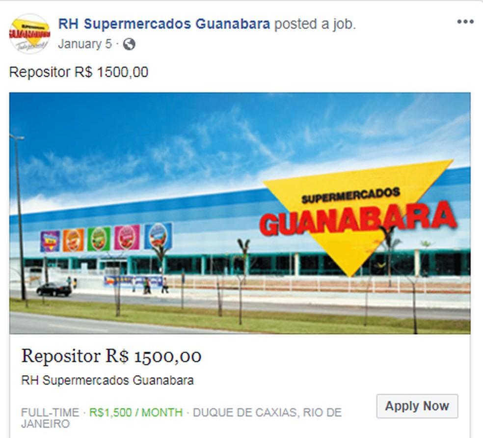 Página que se passa pela do Guanabara — Foto: Reprodução