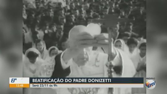 Cerimônia de beatificação do Padre Donizetti é marcada para novembro em Tambaú