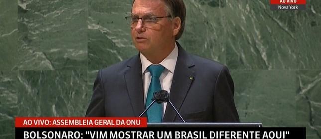 O presidente discursa na ONU
