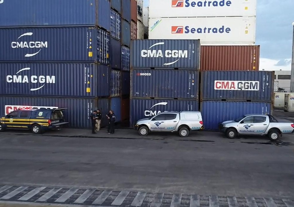 Porto de Natal não possui escâner para auxilar na vistoria dos contêineres — Foto: Receita Federal