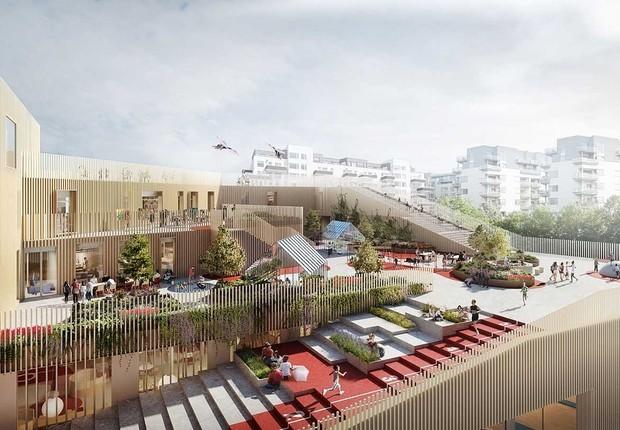 New Islands Brygge School, que será inaugurada em Copenhague. na Dinamarca (Foto: C.F. Møller Architects)