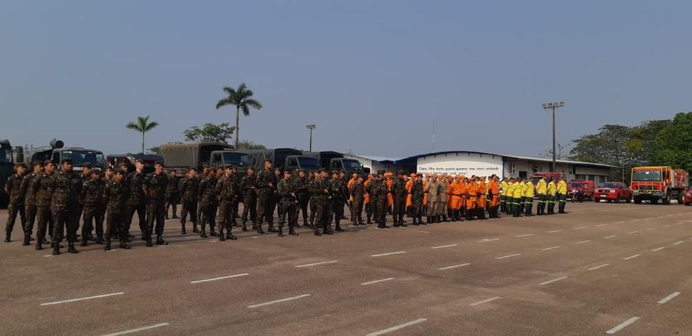 Exército diz que 900 militares irão atuar no combate das queimadas — Foto: 17ª Brigada/Divulgação