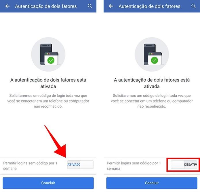 Impeça o login na sua conta sem o uso do código adicional (Foto: Reprodução/Paulo Alves)