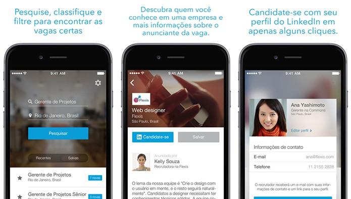 LinkedIn Job Search é um aplicativo do LinkedIn focado na procura de trabalhos (Foto: Divulgação/App Store)