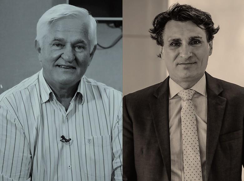 Antônio Galvan, presidente da Aprosoja-MT e vice-presidente da Aprosoja Brasil e André Nassar, presidente da Associação Brasileira das Indústrias de Óleos Vegetais (Abiove) (Foto: Edilson Dantas / Agência O Globo)