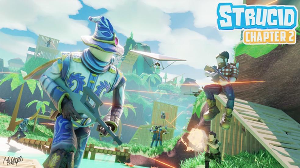 Strucid, game do Roblox, é uma ótima pedida para os fãs Fortnite — Foto: Reprodução/Roblox
