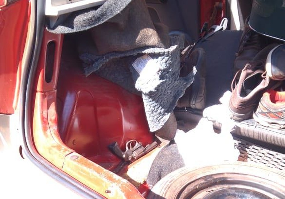 Revólver teria sido usado para matar Patrícia Aline (Foto: Divulgação/Polícia Civil)