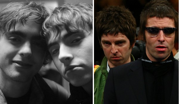 Gene e Lennon Gallagher, filhos do ex-Oasis Liam Gallagher e sobrinhos de Noel Gallagher (Foto: Instagram/Getty Images)