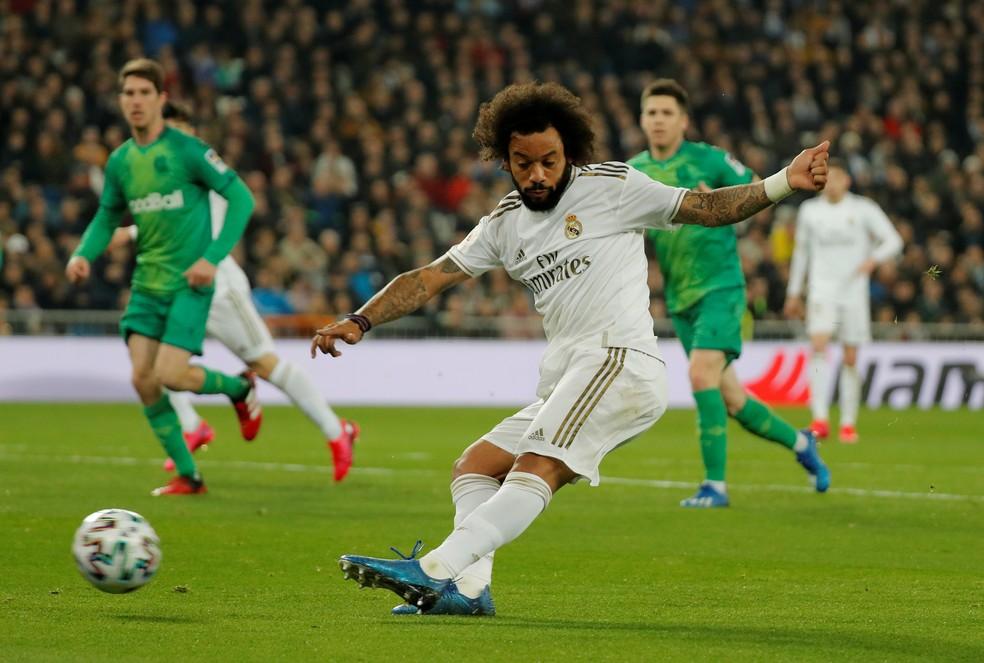 Marcelo ainda tem dois anos de contrato com o Real Madrid — Foto: REUTERS/Susana Vera