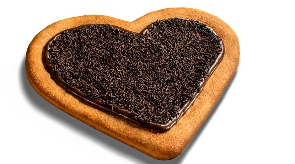 Pizza em formato de coração da Pizza Hut (Foto: Divulgação)