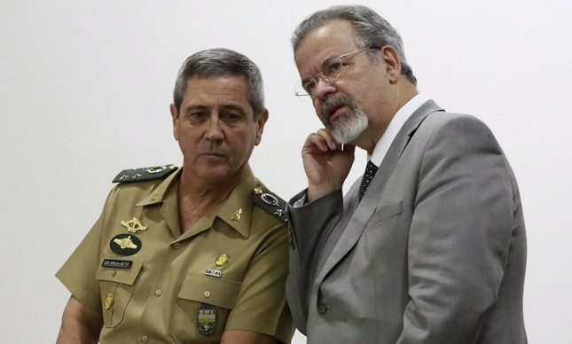 Braga Netto e Raul Jungmann