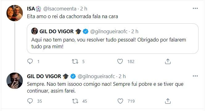 Gilberto no Twitter (Foto: Reprodução/Instagram)