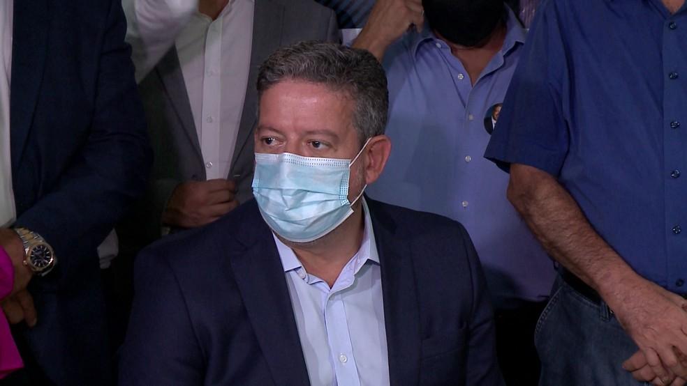 Deputado federal Arthur Lira (PP-AL) durante visita a Teresina — Foto: Reprodução/TV Clube