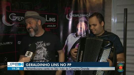Cantor Geraldinho Lins faz show nesta quarta-feira (26), no Parque do Povo