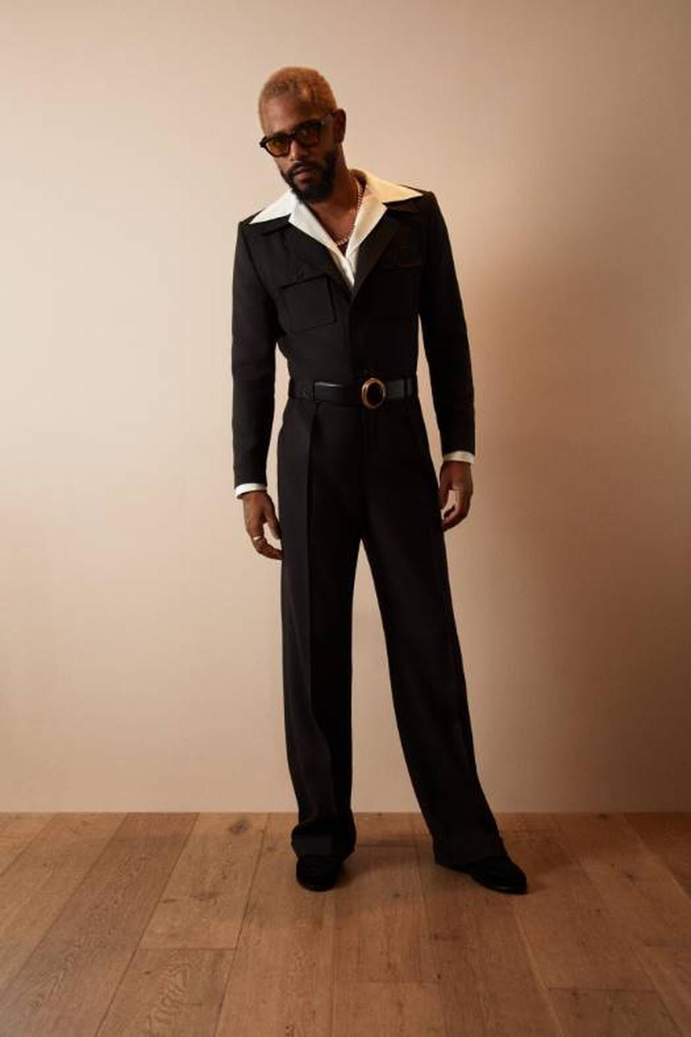 LaKeith Stanfield posa antes do Oscar 2021 — Foto: Divulgação