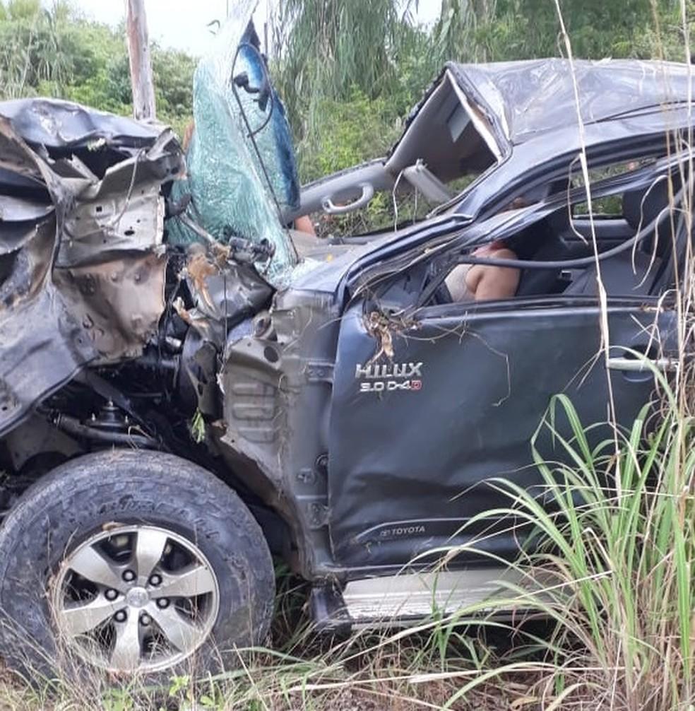 Dois homens morreram após acidente na BA-451 — Foto: Jadiel Luiz/Blog do Sigi Vilares