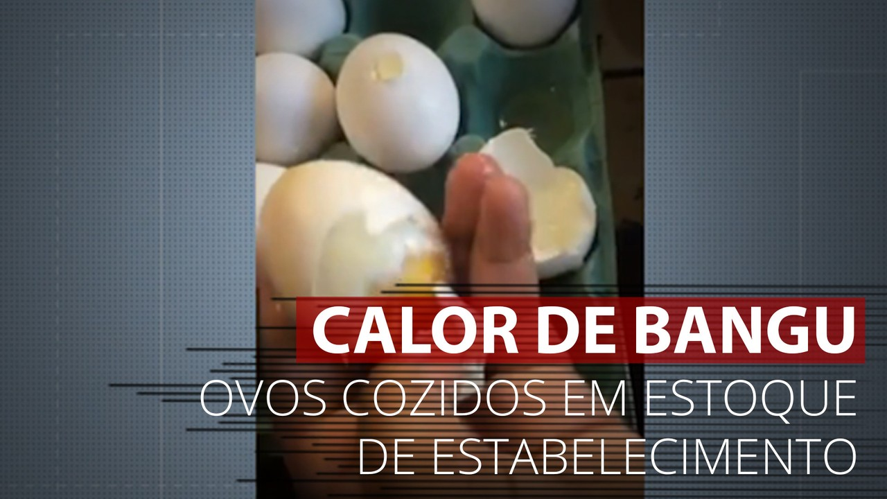 VÍDEO: Calor cozinha ovos em estoque de estabelecimento em Bangu, no Rio