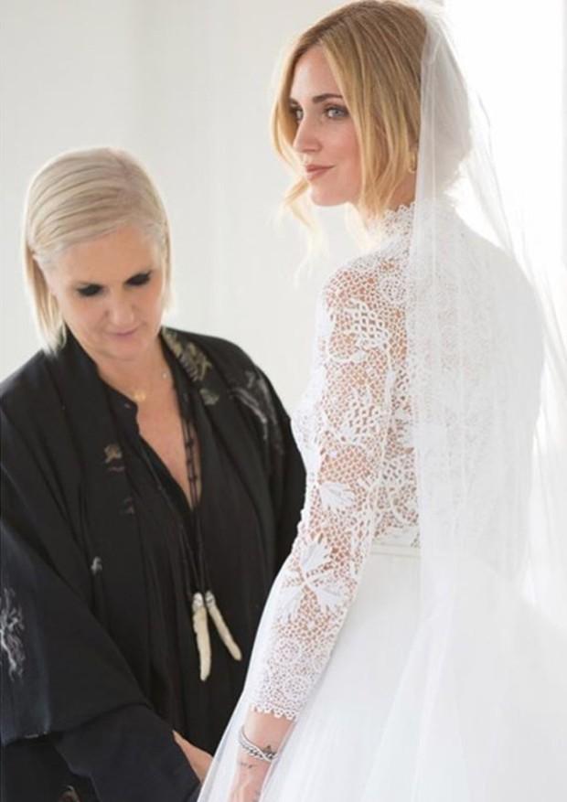 Chiara Ferragni casou a bordo de um Dior feito sob-medida para ela (Foto: Reprodução/ Instagram)