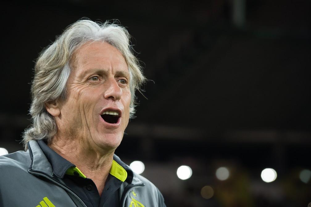 Jorge Jesus, técnico do Flamengo — Foto: Alexandre Vidal/Flamengo