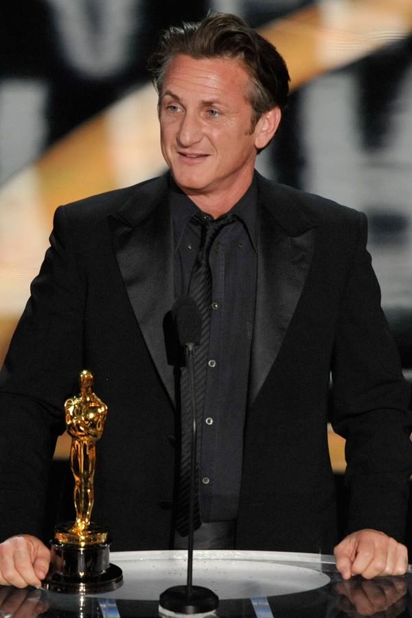 Sean Penn no Oscar 2009 (Foto: Getty Images)