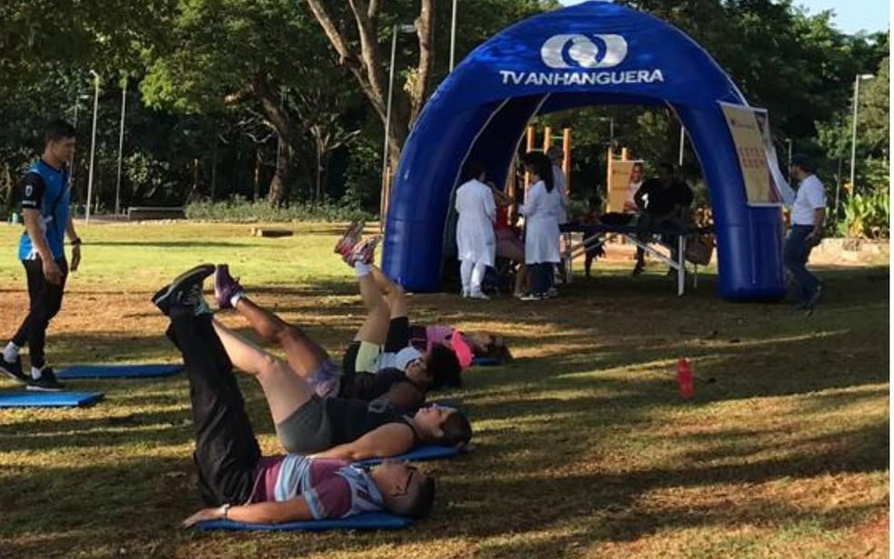 No ano passado, a TV Anhanguera realizou atividades do Viver Cidade no Parque Bernardo Elis, em Goiânia — Foto: Caroline Louise/TV Anhanguera