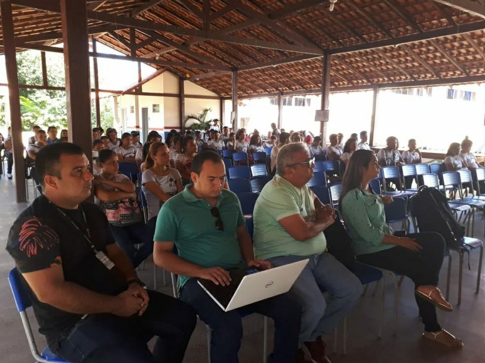 Ações da Semana Nacional do Meio Ambiente em Monte Alegre (Foto: Ideflor-Bio/Divulgação)