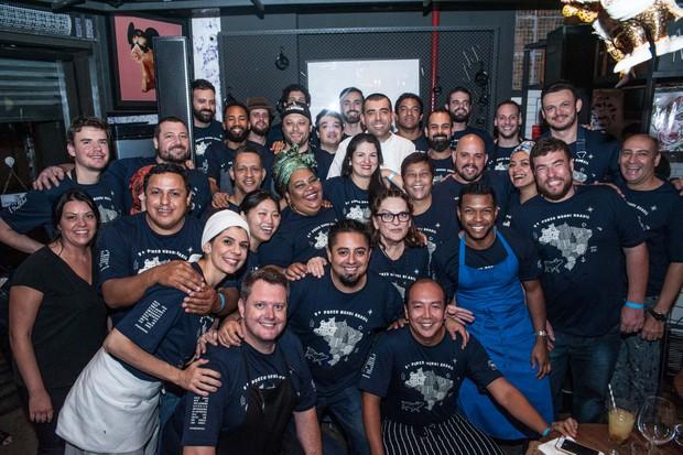 31 cozinheiros de todo o Brasil participaram da primeira edição do Porco Mundi Brasil (Foto: Rogério Gomes)