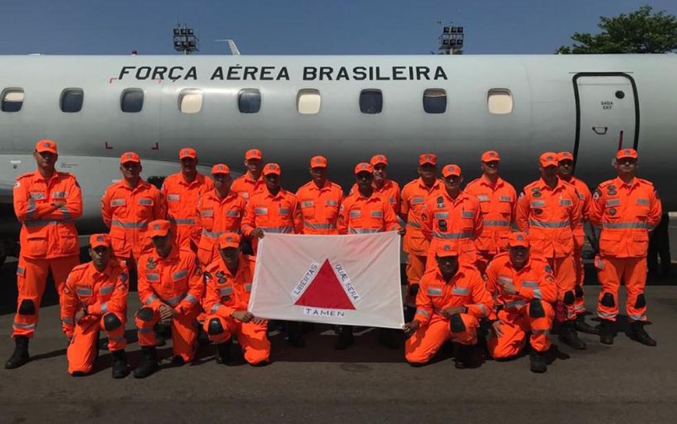 Equipe de 20 bombeiros militares embarca para combater incêndios florestais no Sudoeste do Pará, na região da Amazônia Legal — Foto: Corpo de Bombeiros/Divulgação