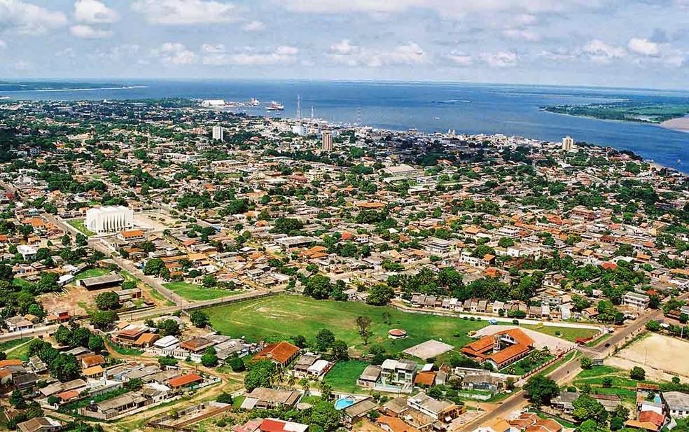 -  Vista área do município de Santarém, no oeste do Pará  Foto: Divulgação/PMS