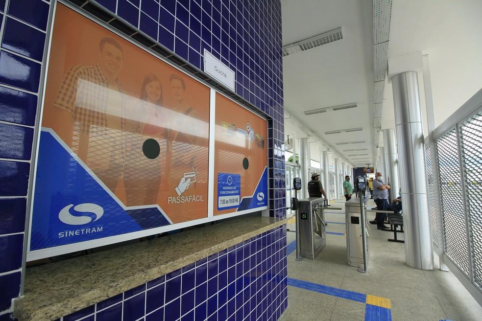 Estação de transferência São Jorge é a primeira de outras quatro que serão construídas, segundo Prefeitura. — Foto: Marcio James/Semcom