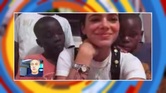 Bruna Marquezine conversa com Luciano Huck direto de Angola: 'Tentei ir para Moçambique'