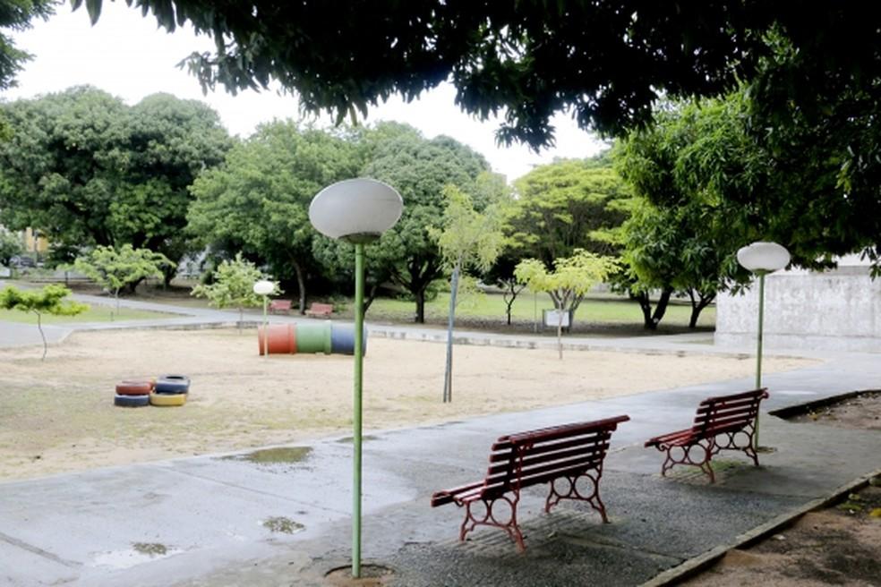 Bosque das Mangueiras é um espaço público em Lagoa Nova — Foto: Alex Régis