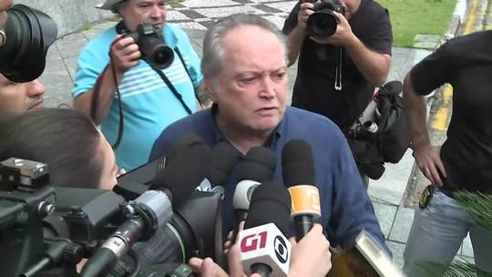 Ex-ministro da Agricultura Wagner Rossi chega à sede da PF em SP