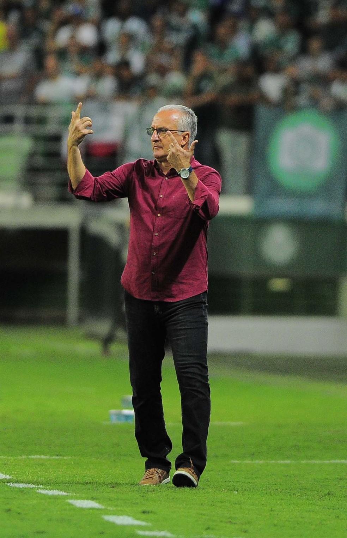 Dorival durante o clássico entre Palmeiras e São Paulo (Foto: Marcos Ribolli)