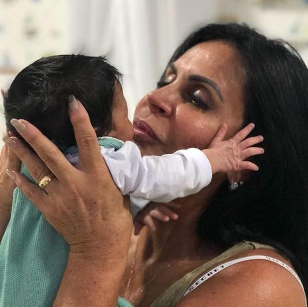 Gretchen com o netinho, Enrico (Foto: Reprodução/Instagram)