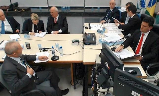 Lula prestou depoimento a Sergio Moro na última quarta-feira, em Curitiba (Foto: Reprodução / O Globo)