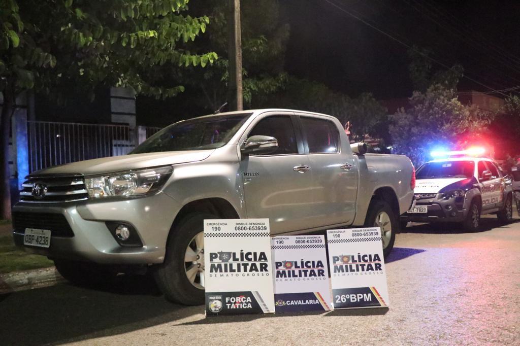 Assaltantes roubam caminhonete em MT e confessam que queriam ir para o Pará encontrar a namorada de um deles