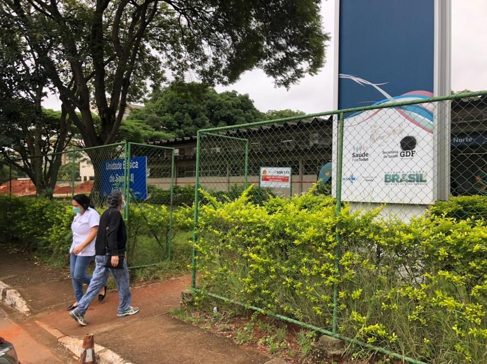Unidade Básica de Saúde II, na Asa Norte, nesta terça-feira (9) — Foto: Walder Galvão/G1