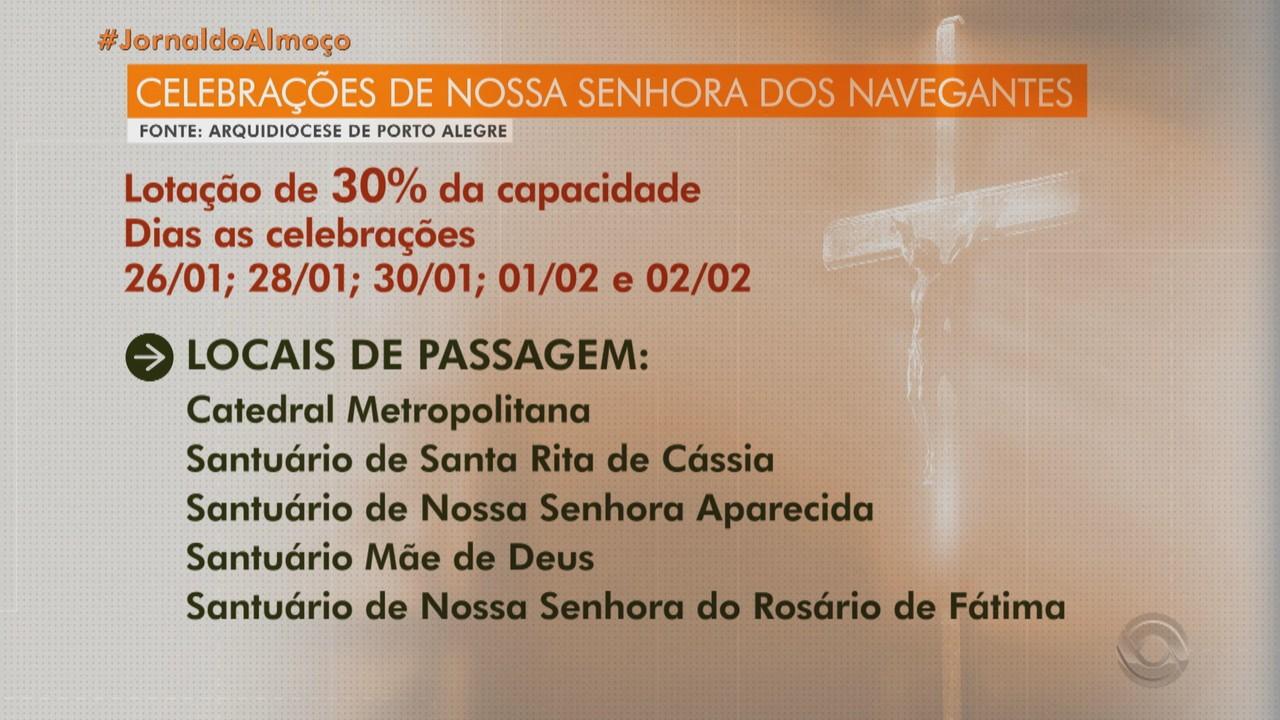 Procissão pela Nossa Senhora dos Navegantes acontece em novo formato em Porto Alegre