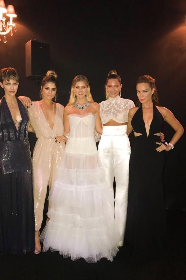 Ruby Rose, Thassia Naves, Lala Rudge, Mariana Ximenes e Helena Bordon (Foto: Divulgação)