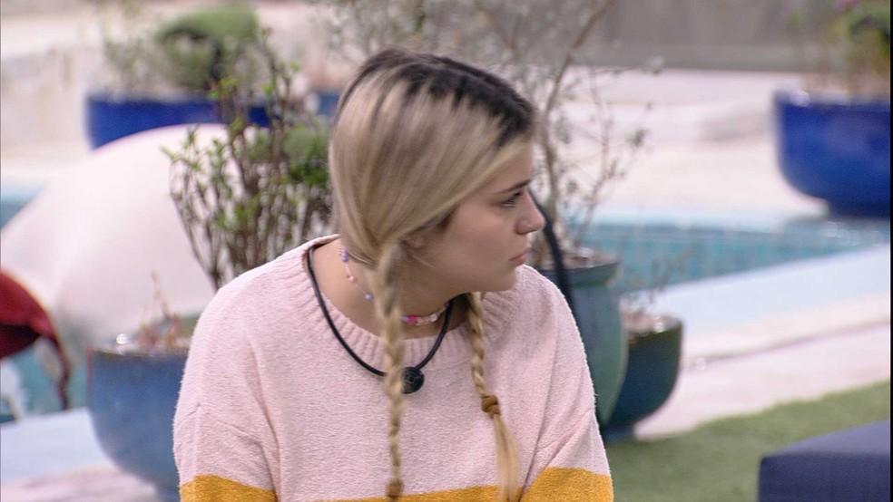 Viih Tube recusa conversa com Juliette e pontua: 'Quero ficar sozinha' — Foto: Globo