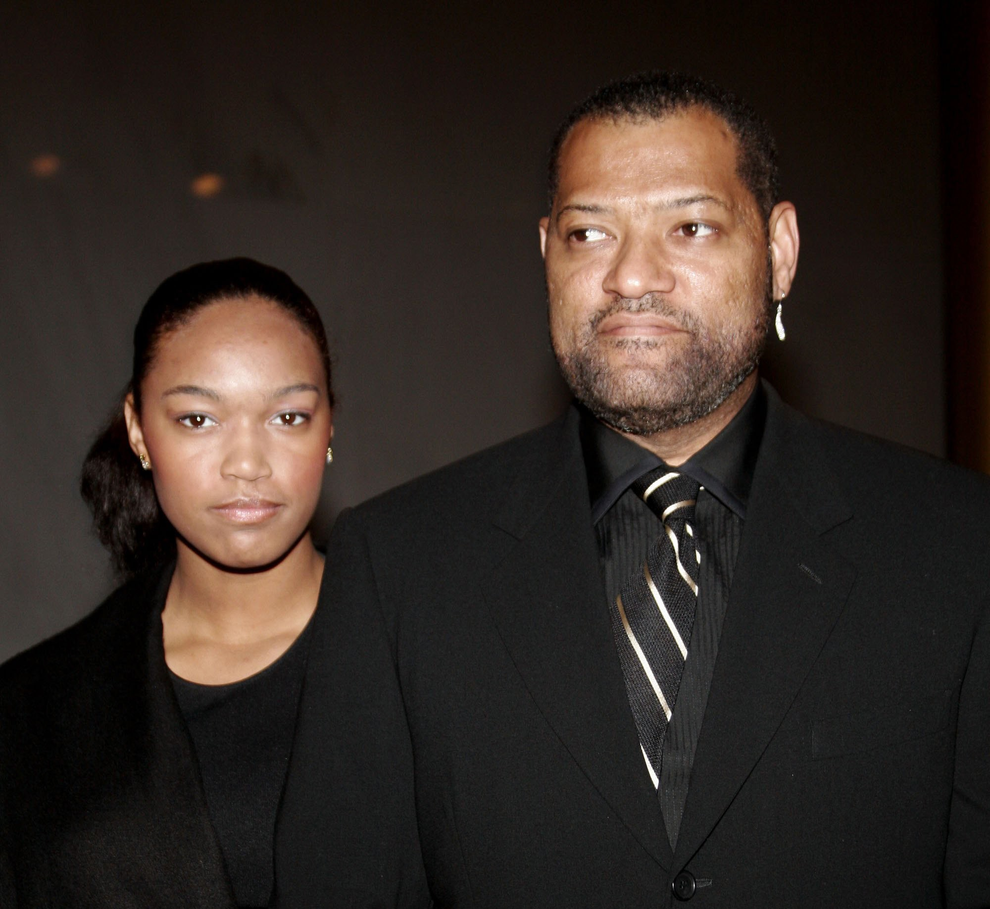 Montana Fishburne e Laurence Fishburne em 2006 (Foto: Getty Images)