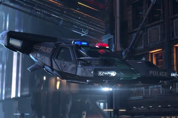 Calma, teremos também veículos que voam em Cyberpunk 2077 (Foto: Divulgação)